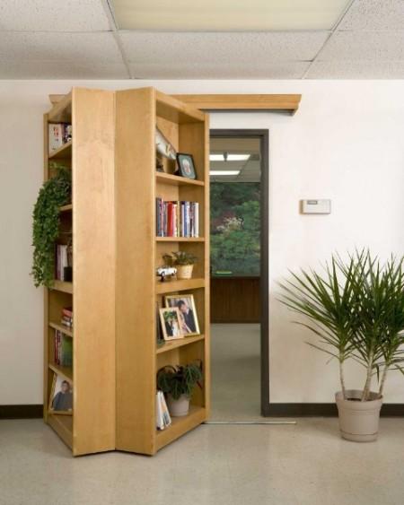 Folding Hidden Bookcase